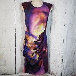Nicole Miller 8 Sexy Shirred Bodycon Dress